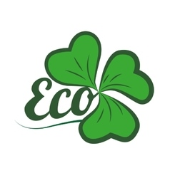 leafs ecology symbol isolated icon vector image vector image