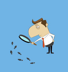 man with magnifying glass vector image vector image