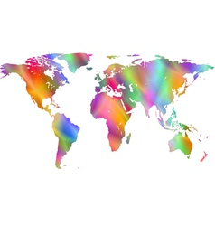 Motley world map vector