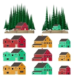 Mountain and forest landscape vector