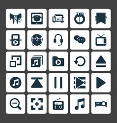 Multimedia icons set collection of e-reader vector