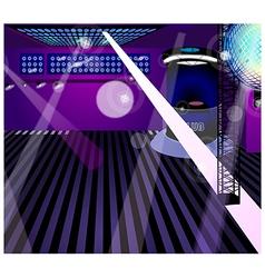 Night club interior vector