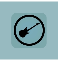 Pale blue guitar sign vector