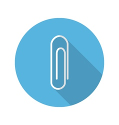 Paperclip icon vector