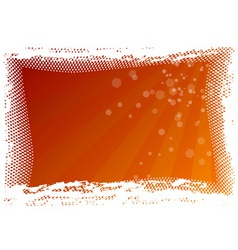 red background as halftone frame vector image