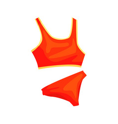 red woman s athletic underwear for fitness and vector image vector image