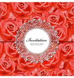 rose invitation vector image vector image