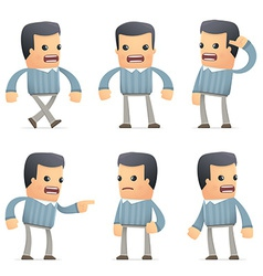 set of customer character in different poses vector image