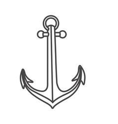 Sketch contour anchor icon design vector