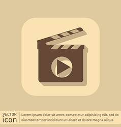 Slate Board symbol of cinema vector image