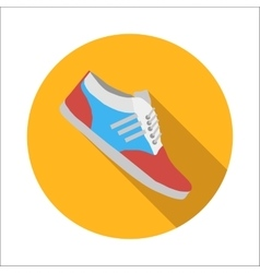 Sport shoes flat icon vector image vector image