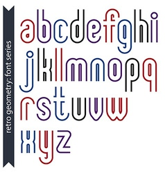 Stylish lowercase letters set with straight vector