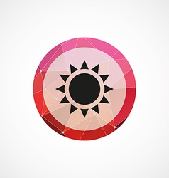 Sun circle pink triangle background icon vector