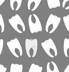 White teeth on a grey background seamless pattern vector image