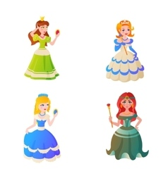 Princess character vector