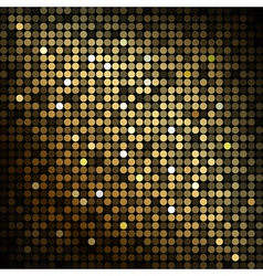 Gold disco lights - abstract background vector image