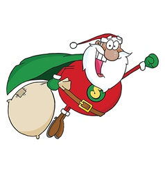 Super hero santa cartoon vector image
