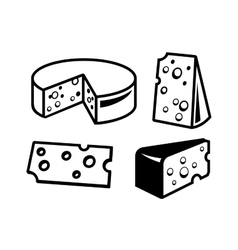 Cheeses icon vector