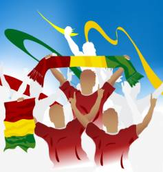 Guinean crowd vector