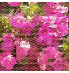 square mosaic with golden frames background vector image