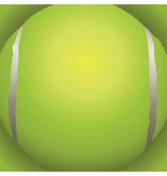 Tennis ball closeup vector