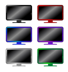 Colored computer monitors vector