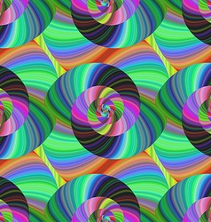 Abstract psychedelic seamless swirl pattern vector