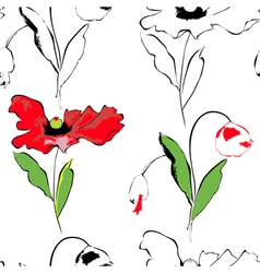 stylized seamless pattern vector image