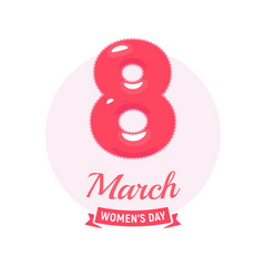 8 march logo womens day icon tender punchy vector image