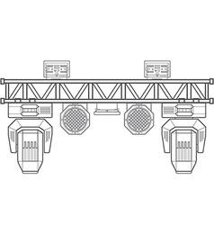 Outline stage metal truss concert lighting vector