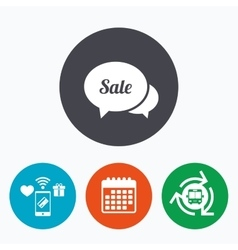 Speech bubble sale icon special offer symbol vector