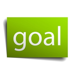 Goal green paper sign isolated on white vector
