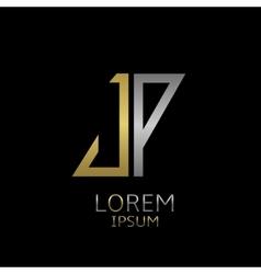 JP letters logo vector image