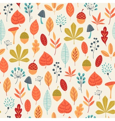 Autumn colors pattern vector image
