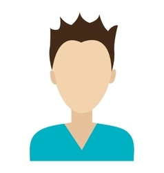 Avatar man with blue shirt graphic vector