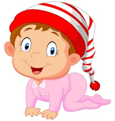 Baby girl cartoon vector