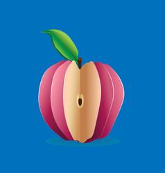 beautiful bright apple vector image