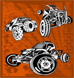 buggy and bike vector image