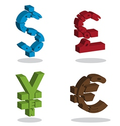 Currency 3D vector image vector image