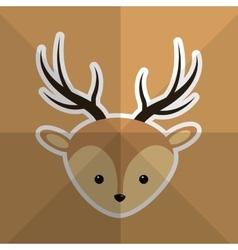 Cute deer head image vector