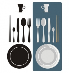 cutlery icons vector image