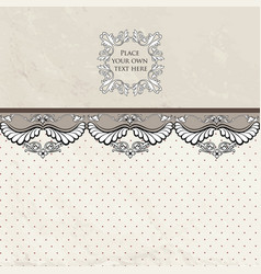 Floral vignette border vintage background old vector