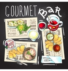 Gourmet bar vector