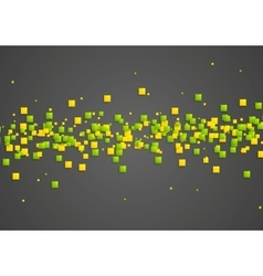 Green and orange squares on dark background vector image vector image