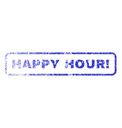 Happy hour exclamation rubber stamp vector