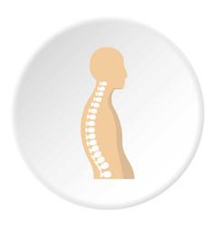 Human spine icon circle vector