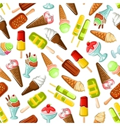 Ice cream seamless pattern background vector