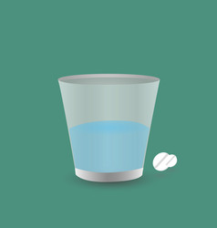 in one hand holds glass of water the other hand vector image
