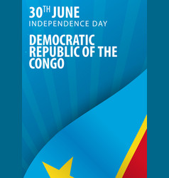 independence day of democratic republic of the vector image