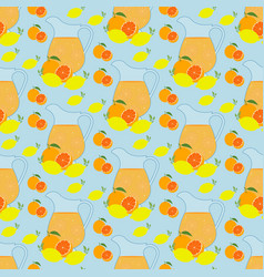 lemonade seamless pattern vector image vector image